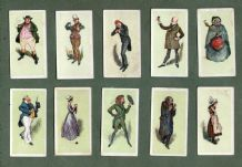 Cigarette cards set  Characters from the works of Dickens 1919